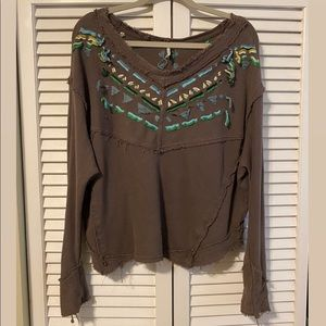 Free People, embroidered sweater!